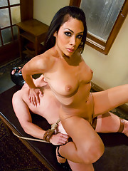 Cassandra Cruz humiliates slave boy, fucks his ass
