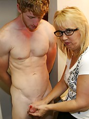 Joeys Step Mom Roberta loves it when she catches Joey masturbating