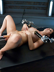 She cums, she cries, she begs for more as her pussy sings out in utter happiness from machine fucking.