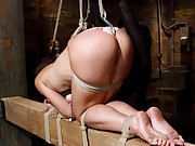 Audrey is pushed hard in this incredible update with a fucking machine, partial breast suspension, and tough positions that leave her exposed.