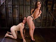 Penny Flame trains her slave boy.
