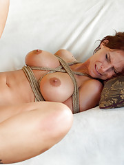 A Taboo Milf Fantasy, Ass Fucked in Bondage by Adopted Son!