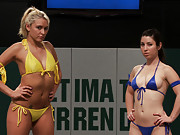 Tuesday Bonus Update: Non-scripted sexual wrestling gets real!!!! Katie Summers and Serena Blair battle on the mat, then Bryn Blayne and Holly Heart!
