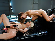 Lorelei Lee and Kristina Rose fuck each other in the ass and pussy with machines, pussy licking, domming, HUGE cocks and tons of cumming & Double Pen