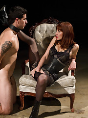Maitresse Madeline punishes and milks slave prostate with expert precision making him loose his filthy load twice without stroking his cock.