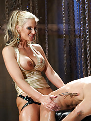 Devastatingly beautiful Phoenix Marie uses slaveboy to get her sadistic and sexual rocks off! What more could you ask for?