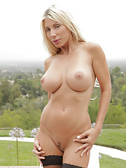 Puma Swede is sizzling hot on a terrace in the hills