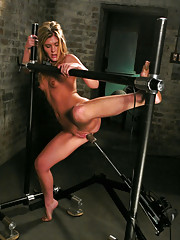 FuckingMachines.com Classic Shoot from the Archive: Brand new hot blonde gets machine fucked for first time.