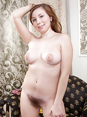 Silviya dresses up her hairy pussy