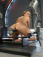 Katja Kassin the ass assassin fucking cocks bigger than her forearm on machine bigger than her. She takes monster dong in her ass!