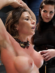 Bobbi Starr teaches Ariel humility through sadistic torture, then fucks her with a massive strap on, and finishes her with fisting and pain management