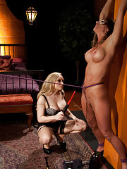 Ariel X is suffer electrosex and BDSM and is punished for her outstanding debt with her Elecro pimp Aiden Starr.
