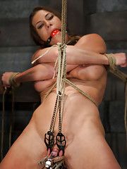 Ariel is made to endure brutal bondage and extreme pussy torment.