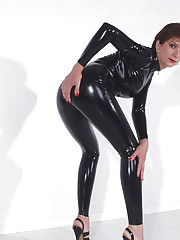 Rubber catsuit milf