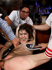 Cute and Precious Tegan Tate Takes a BIG Cock in all of her Tiny Holes in a Crowded Bar
