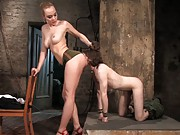 Annnette Schwarz fuck slave boy up the ass