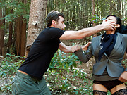 Business women grabbed and tied up in the woods to be fucked and dominated!