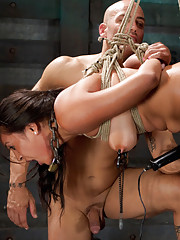 Adrianna spends the day perfecting sexual service.