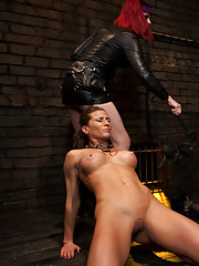 Ariel is subjected to heavy protocol training, and made to endure the suffering of another slave in front of her.