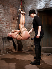 Greedy slut Ashli gets fisted mid air, exposed in tight and inescapable rope bondage, and relentlessly subjected to intense and unbearable orgasms.