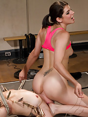 Strict lesbian coach, Bobbi Starr uses unconventional ways of training her gymnasts with hot lesbian BDSM and kinky sex!