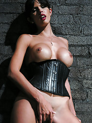 Mistress Shy Love has slave eat cum off her tits