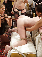 LIVE and PUBLIC ALL GIRL LESBIAN BDSM ORGY starring Justine Joli!