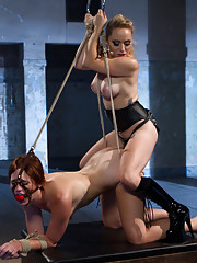 Adorable new girl is built for punishment and hot lesbian BDSM and sex!