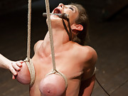 Felony returns for intense flexibility bondage, squirts all over her face and tits, rides the sybian & cums so much she practically forgets her name.