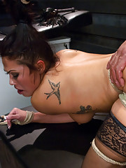 Asian Massage worker gets tied up and dominated with rough sex.
