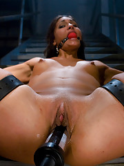 Jade Indica gets a hard OTK spanking and an electric butt plug in her ass. Hot lesbian BDSM with intense orgasms and electrical play!