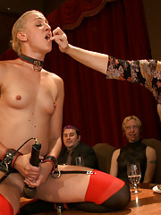 Slaves are punished, and the House guests get to enjoy the slaves sexual service