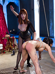 Maitresse Madeline dominates tough submissive Tia Ling in an explosive brutal yet erotic lesbian BDSM update!