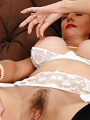 Lacy white lingerie
