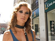 Cristal Cherry pops her public cherry in a walk through town that shows off this slut as she deserves: naked, bound, and penetrated in all holes.