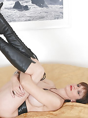Leather boots milf