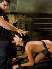 Two girls are captured by a mad man filmmaker and endure rough bondage sex!