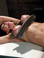 Huge Tit MILF punished and ass fucked in bondage for being a slut!