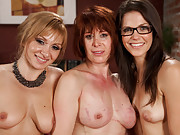 Kinky lesbian couple live out a kinky fantasy filled with punishment and rough sex with their unassuming maid.