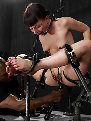 Katharine gets expertly Dominated by Jack subjected to cattle prod torment, intense metal bondage, crucifixion suspension, predicaments and MORE.