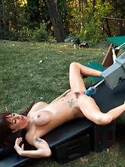 The final piece- fucked by alien cold steel machines until she squirts into her own face and her pussy gapes pink, wet awesomeness.