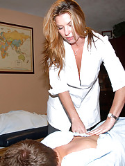 2 amazing hot ass fucking milfs get ass and pussy fucked in these massage table 3some hot ass amateur pics
