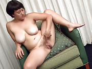 Hairy girl Sarah Rose turns on the guys at work