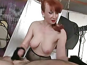 Teasing mature red