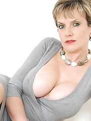 Cleavage mega milf