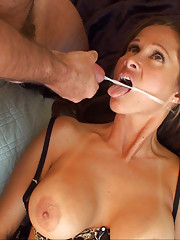 HotWifeRio strips out of her sexy work clothes then takes a  facial from Tommy