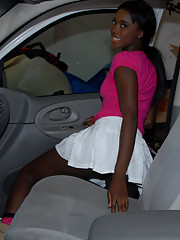 Ebony in Skirt