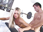 Free movie clips with teen star Sabrina fucking in gym!