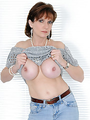 Tight jeans mature
