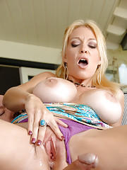 Busty hardcore MILF gets her huge tits fucked